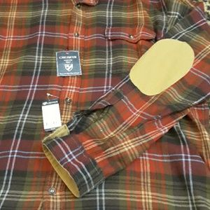 Cremieux shirt elbow patches flannel